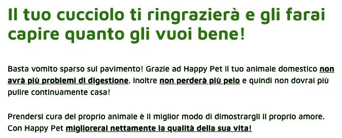 Benefici di Happy Pet