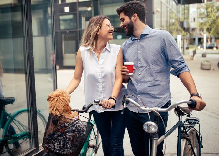 Trasportino da bici per cani